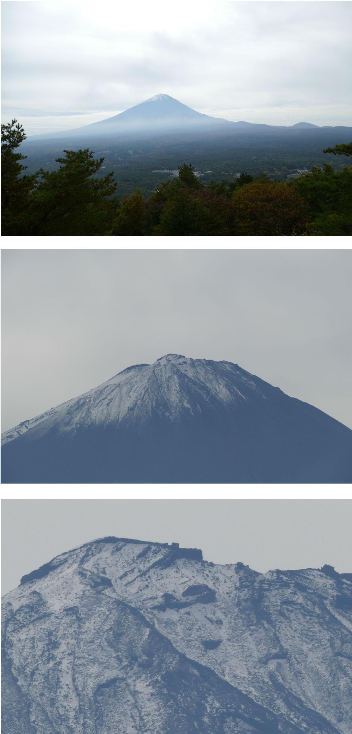 ズーム比較・富士山