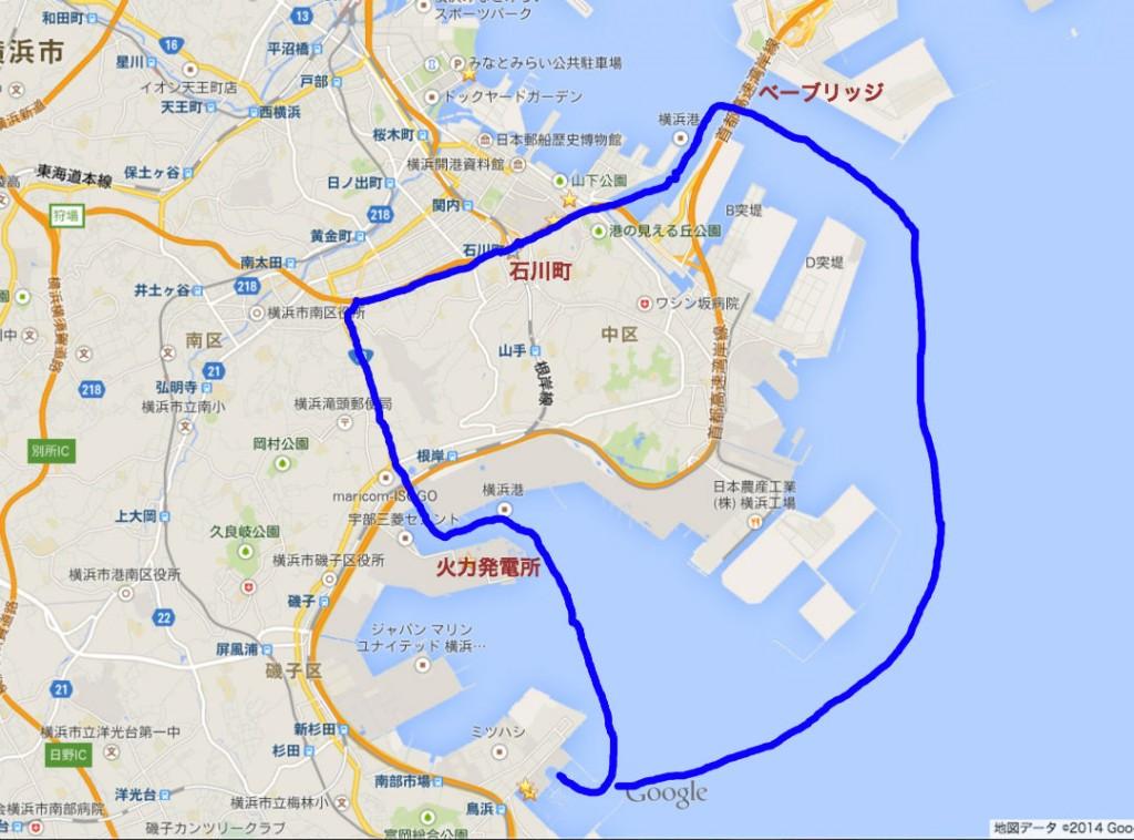 ヤマハ・横浜クルーズマップ